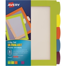 AVE24900 - Avery&reg Big Tab Ultralast Plastic Dividers