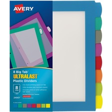 AVE24901 - Avery&reg Big Tab Ultralast Plastic Dividers