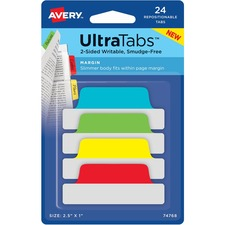 AVE74768 - Avery&reg UltraTabs Repositionable Margin Tabs