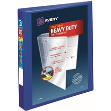 """Avery® Heavy-Duty View Binders - Locking One Touch EZD Rings - 1"""" Binder Capacity - Letter - 8 1/2"""" x 11"""" Sheet Size - Ring Fastener(s) - 4 Internal Pocket(s) - Poly - Pacific Blue - Recycled - Cover, Spine, Divider, One Touch Ring, Gap-free Ring, Non-stick, Heavy Duty, Pocket, Locking Ring"""