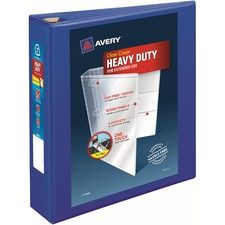"""Avery® Heavy-Duty View Binders - Locking One Touch EZD Rings - 2"""" Binder Capacity - Letter - 8 1/2"""" x 11"""" Sheet Size - Ring Fastener(s) - 4 Internal Pocket(s) - Poly - Pacific Blue - Recycled - Cover, Spine, Divider, One Touch Ring, Gap-free Ring, Non-stick, Heavy Duty, Pocket, Locking Ring"""