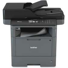 Brother MFC MFC-L5800DW Wireless Laser Multifunction Printer - Monochrome - Copier/Fax/Printer/Scanner - 42 ppm Mono Print - 1200 x 1200 dpi Print - Automatic Duplex Print - Upto 50000 Pages Monthly - 300 sheets Input - Color Scanner - 1200 dpi Optical Scan - Monochrome Fax - Ethernet - Wireless LAN - USB - 1 Each - For Plain Paper Print