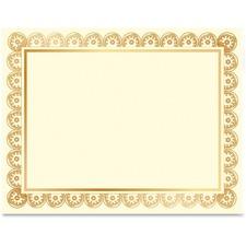 GEO 47830 Geographics Laser/Inkjet Gold Foil Certificate GEO47830