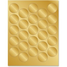 GEO 47839 Geographics Gold Foil Seals GEO47839