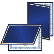 GEO 47846 Geographics Navy/Gold Foil Certificate Jacket GEO47846