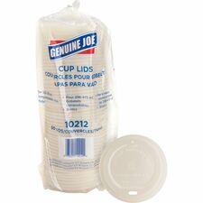 Genuine Joe Vented Hot Cup Lid - 50 / Pack - White