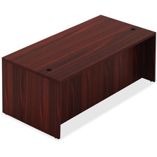 "Lorell Chateau Series Mahogany Laminate Desking Table Desk - 66.1"" x 29.5"" x 30""Table, 1.5"" Table Top - Reeded Edge - Material: P2 Particleboard - Finish: Mahogany Laminate"