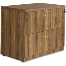 LLR34313 - Lorell Chateau Series Walnut Laminate Desking