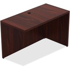 "Lorell Chateau Series Mahogany Laminate Desking Return - 47.3"" x 23.6"" x 30""Desk, 1.5"" Top - Reeded Edge - Material: P2 Particleboard - Finish: Mahogany, Laminate"