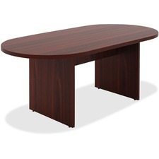 LLR34336 - Lorell Chateau Series Mahogany 6' Oval Conference Table