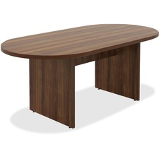 LLR34337 - Lorell Chateau Series Walnut Oval 6' Conference Table