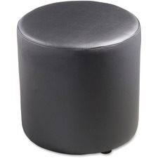 "Lorell Leather Cylinder Ottoman - Plywood16.75"" (425.45 mm)18"" (457.20 mm) - Leather"