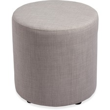 "Lorell Fabric Cylinder Ottoman - Plywood16.75"" (425.45 mm)18"" (457.20 mm)"