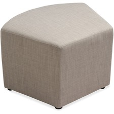 "Lorell Fabric Quad Ottoman - Plywood16.75"" (425.45 mm) x 16.75"" (425.45 mm) x 18"" (457.20 mm) - 1 Each"