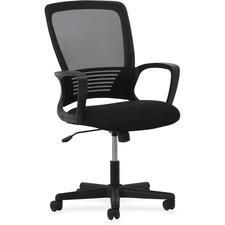 LLR54857 - Lorell Sandwich Seat Mesh Mid-back Chair