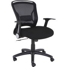 LLR59519 - Lorell Flipper Arm Mid-back Chair