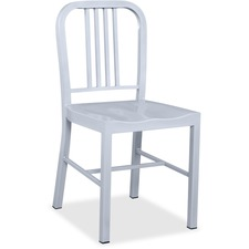 "Lorell Metal Chair - Metal Frame - Silver - 16"" Width x 18"" Depth x 32"" Height - 2 / Carton"