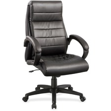 LLR 59532 Lorell Deluxe High-back Leather Chair LLR59532