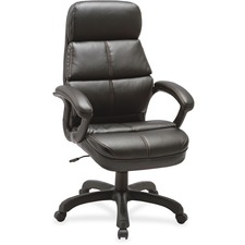 LLR59533 - Lorell Luxury High-back Leather Chair