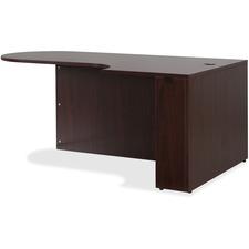 LLR59550 - Lorell Essentials Series Mahogany Laminate Desking