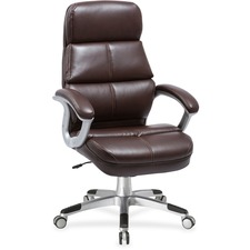 LLR 59562 Lorell Brown Bonded Leather High-back Chair LLR59562