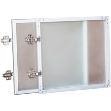 LLR 59576 Lorell Wall-Mount Hutch Frosted Glass Door  LLR59576