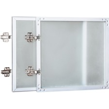 """Lorell Wall-Mount Hutch Frosted Glass Door - 0.2"""" , 36""""Door, 16.6"""" x 16"""" x 0.9"""" - Material: Frosted Glass Door - Finish: Frost"""