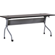 LLR60731 - Lorell Espresso/Silver Training Table