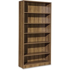 LLR 69973 Lorell Essentials Series Walnut Laminate Bookcase LLR69973
