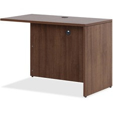 Lorell Essentials Series Walnut Return Shell