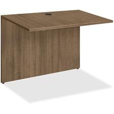LLR 69982 Lorell Walnut Laminate Office Desking LLR69982