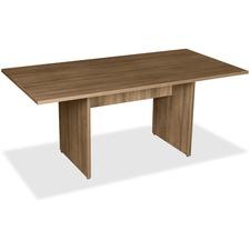LLR69996 - Lorell 2-Panel Base Rectangular Walnut Conference Table