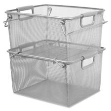 LLR 84247 Lorell Carry Handle Stacking Mesh Storage Bin  LLR84247