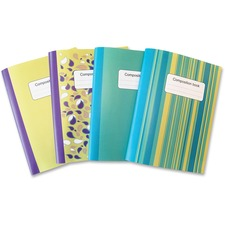 """Sparco Composition Books - 80 Sheets - College Ruled - 10"""" (254 mm) x 7.50"""" (190.50 mm) - Multi-colored Cover - Sturdy Cover, Durable"""