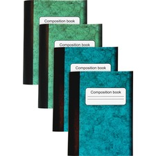 """Sparco Composition Books - 80 Sheets - 4.25"""" (107.95 mm) x 3.25"""" (82.55 mm) - Multi-colored Cover - Sturdy Cover, Durable"""