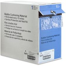 "Sparco Dispenser Carton Bubble Cushioning - 12"" (304.80 mm) Width x 100 ft (30480 mm) Length - 0.3"" Bubble Size - Dispenser, Flexible, Lightweight - Polyethylene - Clear"
