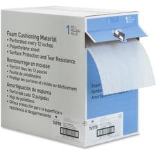 "Sparco Foam Cushioning - 12"" (304.80 mm) Width x 175 ft (53340 mm) Length - 125 mil (3.2 mm) Thickness - Flexible, Lightweight - Polyethylene Foam - White"