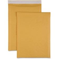 "Sparco Size 4 Bubble Cushioned Mailers - Bubble - #4 - 9 1/2"" Width x 14 1/5"" Length - Self-sealing - Kraft - 100 / Carton - Kraft"