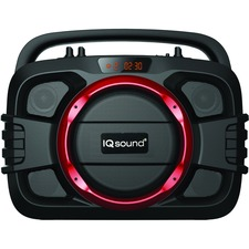 Supersonic SoundBox IQ-2400BT Speaker System - Wireless Speaker(s) - Portable - Battery Rechargeable - Red