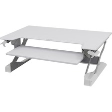 """Ergotron WorkFit-TL, Sit-Stand Desktop Workstation (white) - Rectangle Top - 37.5"""" Table Top Width x 25"""" Table Top Depth - White"""
