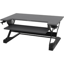 "Ergotron WorkFit-TL, Sit-Stand Desktop Workstation (black) - Rectangle Top - 37.5"" Table Top Width x 25"" Table Top Depth - Black"