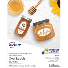 AVE 80502 Avery Textured Oval Labels AVE80502