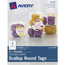 AVE80503 - Avery&reg Textured Scallop Round Tags