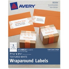 AVE 80506 Avery Textured Wraparound Labels AVE80506