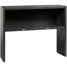 LLR 79172 Lorell Comm. Steel Desk Charcoal Stack-On Hutch LLR79172