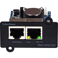 CyberPower RMCARD205 UPS & ATS PDU Remote Management Card - SNMP/HTTP/NMS/Enviro Port - 2 x Network (RJ-45) Port(s)