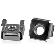 StarTech.com M6 Cage Nuts - 100 Pack - M6 Mounting Cage Nuts for Server Rack & Cabinet