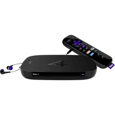 Roku 4 Network Audio/Video Player - Wireless LAN - Black