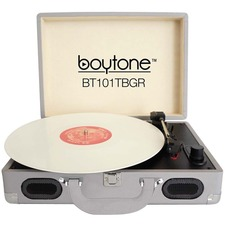 boytone Mobile Briefcase Turntable BT-101TBGR