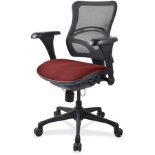 LLR2097831 - Lorell Mesh Midback Task Chair with Custom Fabric Seat
